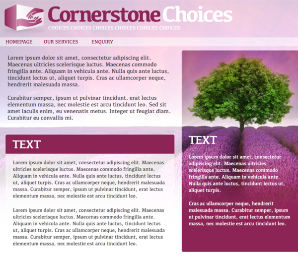 Cornerstone website design
