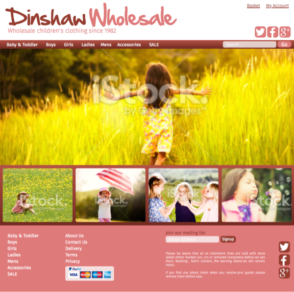 Dinshaw Wholesale website